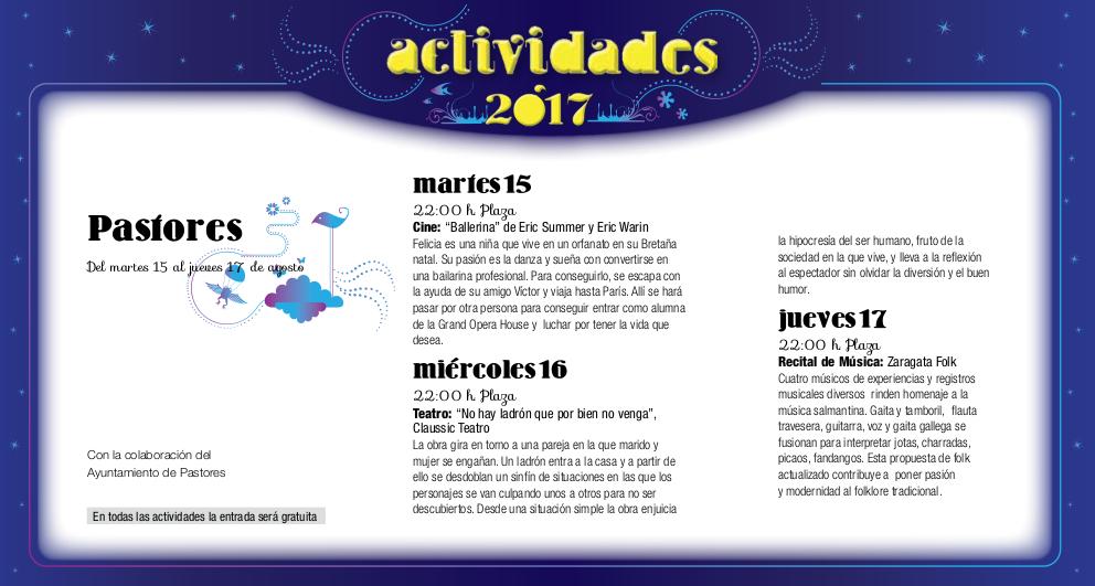 Pastores, Noches de Cultura 2017