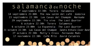 Salamanca de Noche, Cuatro Trimestre 2017