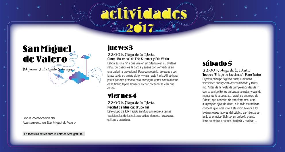 San Miguel de Valero, Noches de Cultura 2017