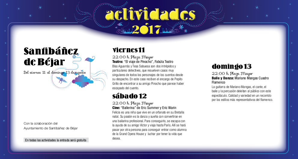 Santibáñez de Béjar, Noches de Cultura 2017