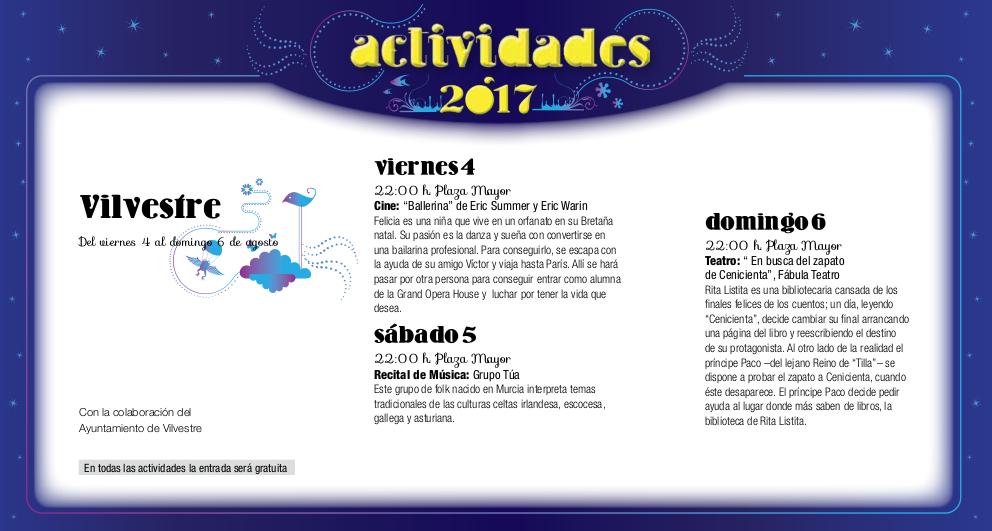 Vilvestre, Noches de Cultura 2017