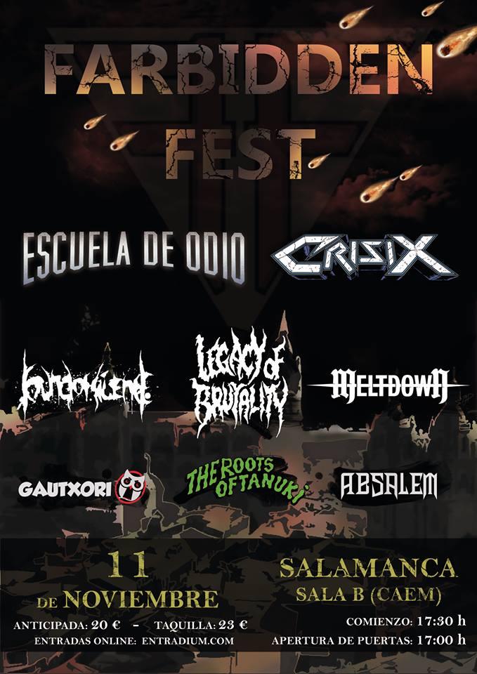 Farbidden Fest 2017, CAEM, Salamanca
