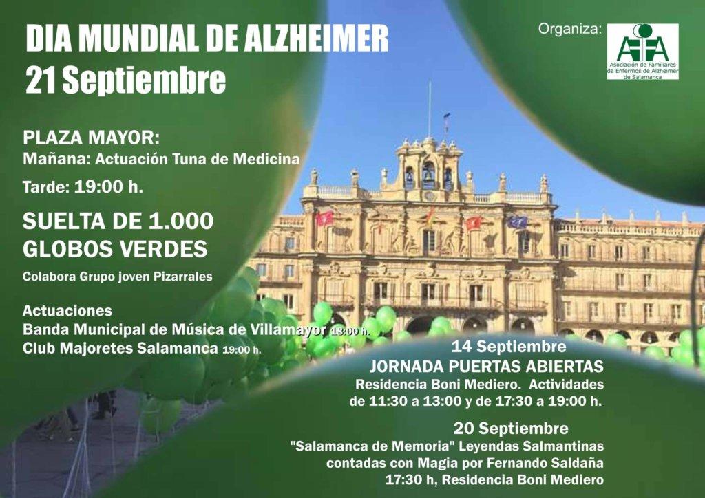 Día Mundial del Alzheimer Plaza Mayor AFA Salamanca Septiembre 2017