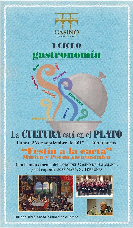 I Ciclo de Gastronomía La Cultura está en el plato Casino de Salamanca Septiembre 2017