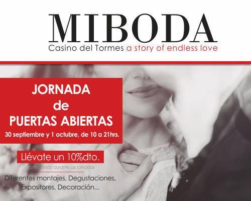 Jornada de Puertas Abiertas Mi Boda Casino del Tormes Salamanca Septiembre octubre 2017