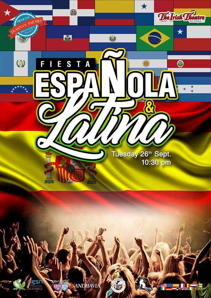 Fiesta Española y Latina The Irish Theatre Salamanca Septiembre 2017