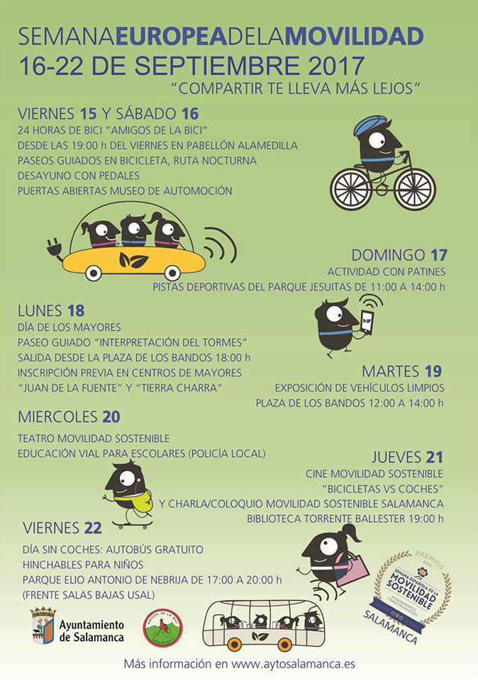 Semana Europea de la Movilidad 2017, Salamanca