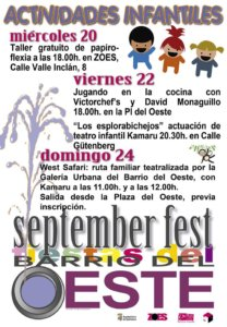 Actividades Infantiles ZOES September Fest Salamanca 2017