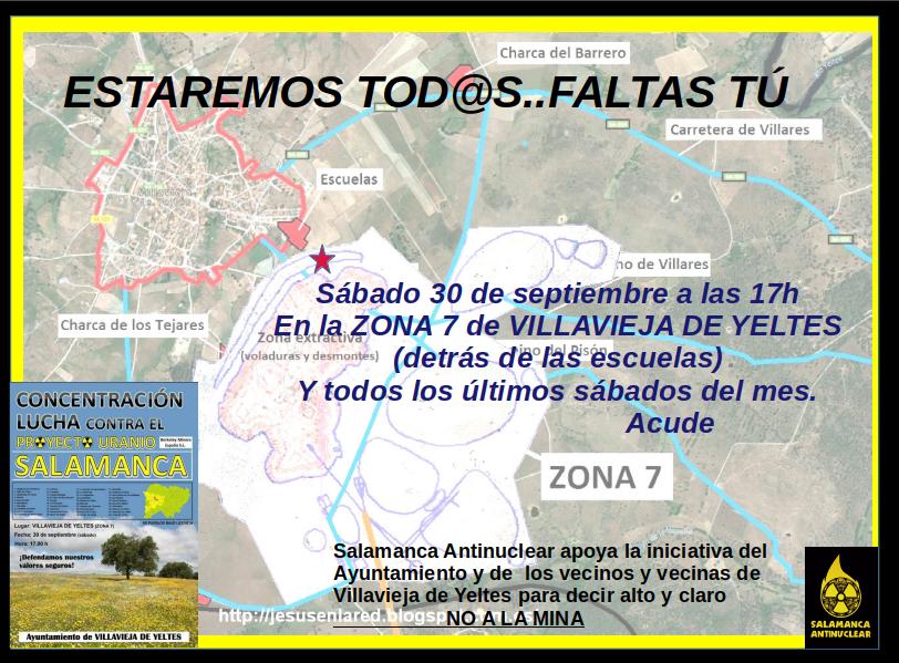 Concentración Salamanca Antinuclear Villavieja de Yeltes Septiembre 2017