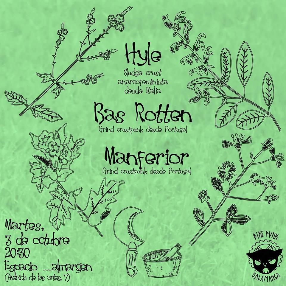 Hyle + Bas Rotten + Manferior __Almargen Salamanca Octubre 2017
