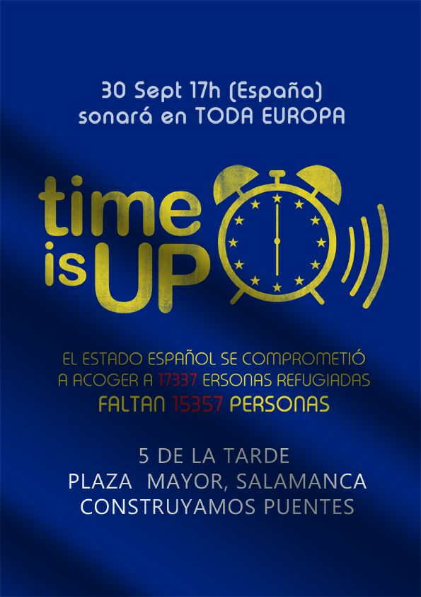 Time is up Plaza Mayor Salamanca Septiembre 2017