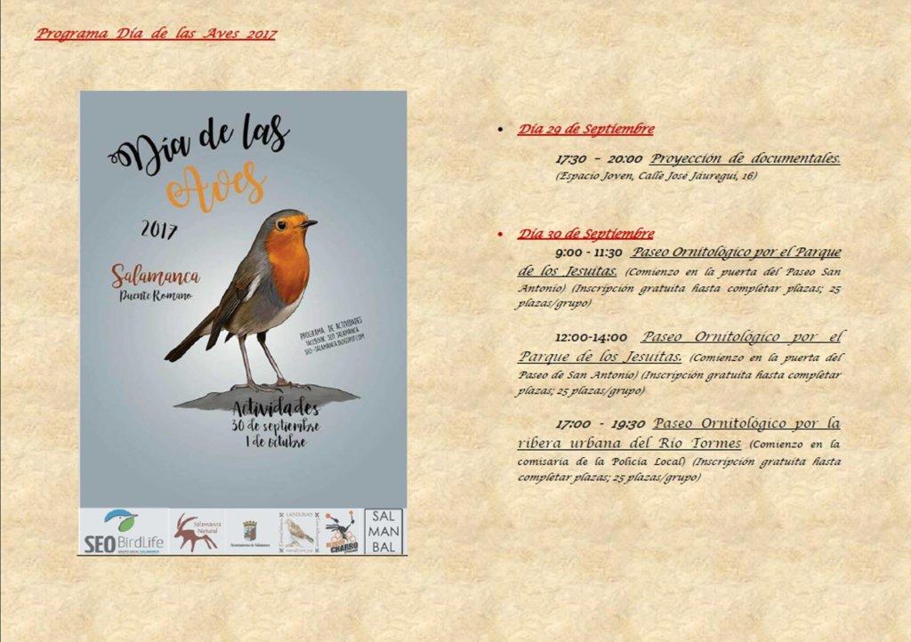 Día de las Aves 2017 Seo Salamanca