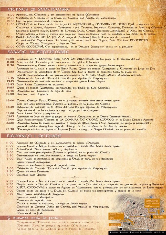 II Feria Medieval La conjura de Ciudad Rodrigo Septiembre octubre 2017