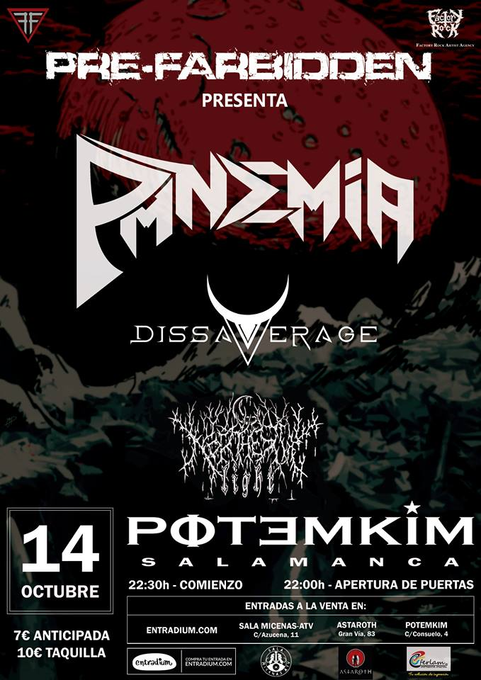 Pandemia + Dissaverage + Northern Light Potemkim Salamanca Octubre 2017