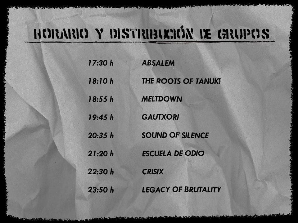 Programa Farbidden Fest 2017 CAEM Conciertos Sala B Salamanca Noviembre 2017