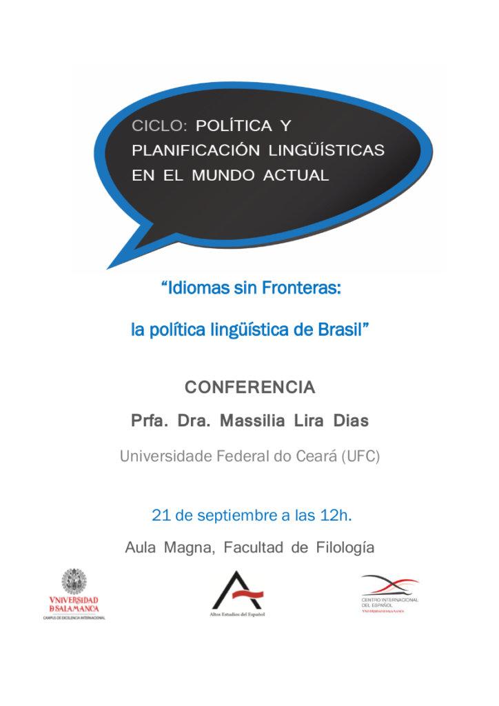 Massilia Lira Dias Idiomas sin Fronteras la política lingüística de Brasil Universidad de Salamanca Septiembre 2017