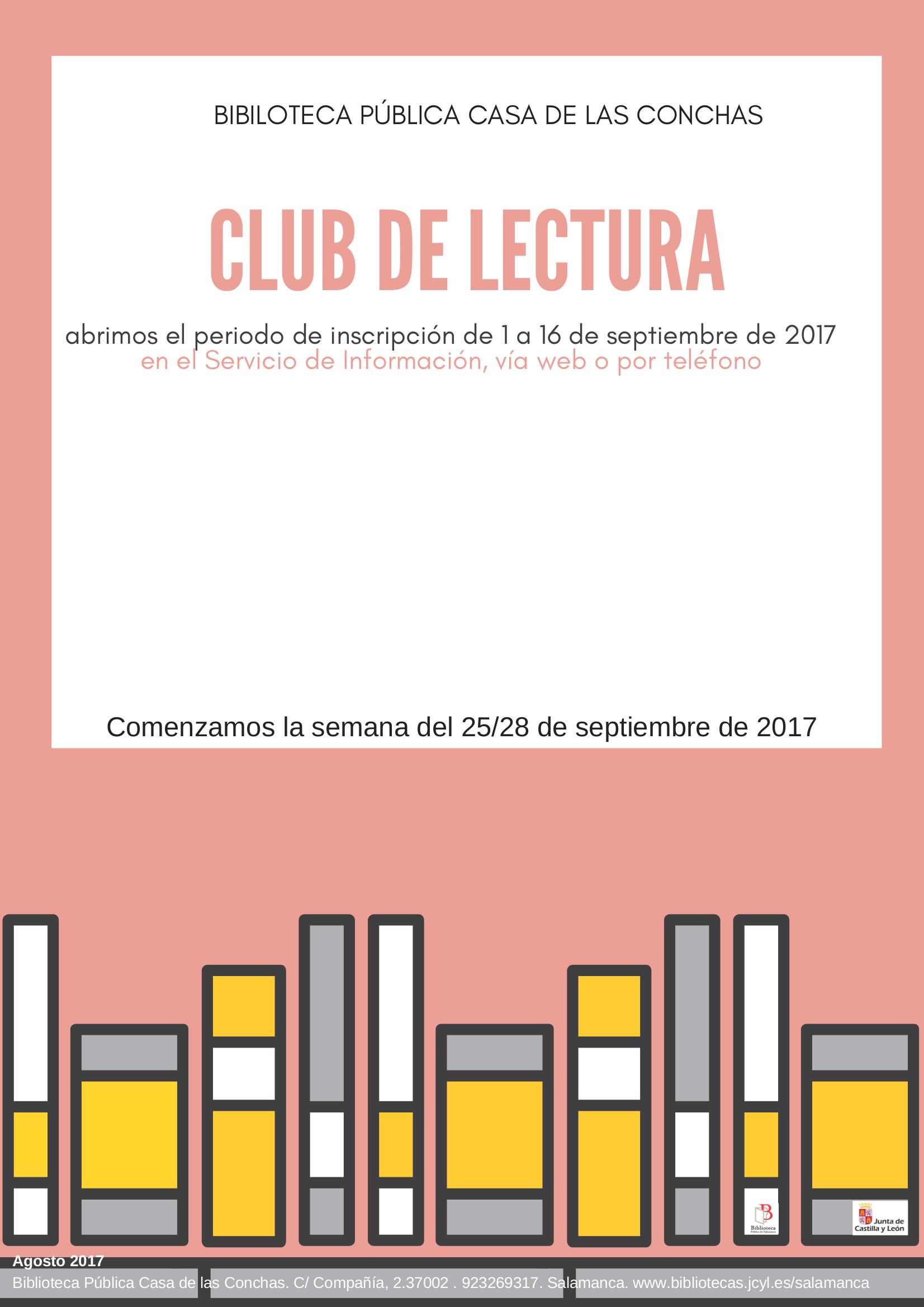 Club de Lectura 2017-2018, Casa de las Conchas, Salamanca
