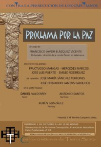 Proclama por la Paz Salamanca Octubre 2017