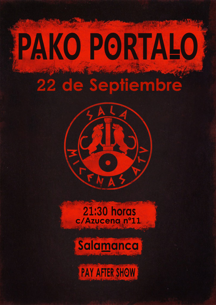 Pako Portalo Sala Micenas Adarsa Salamanca Septiembre 2017.