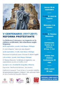 Ana Jiménez Huellas de la Reforma V Centenario de la Reforma Protestante Universidad de Salamanca Septiembre octubre 2017