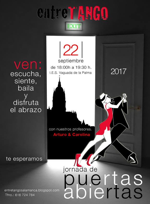 Jornada de Puertas Abiertas Entretango Salamanca Septiembre 2017