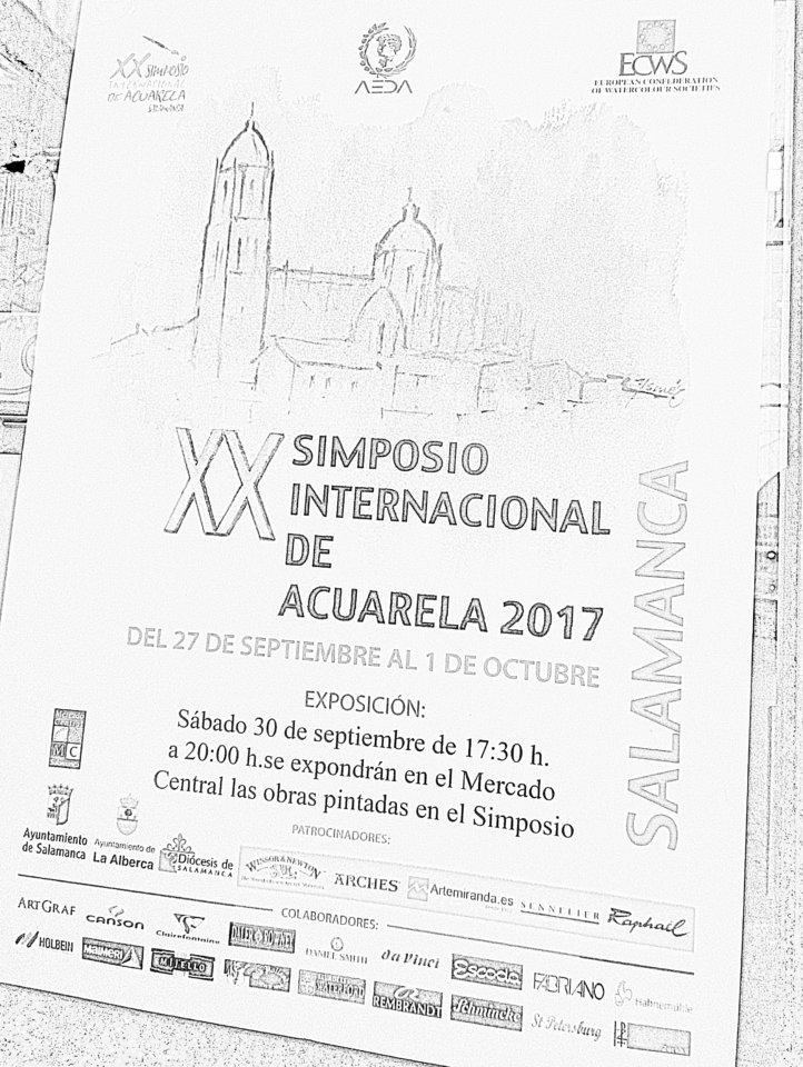XX Simposio Internacional de Acuarela Mercado Central Salamanca Septiembre 2017