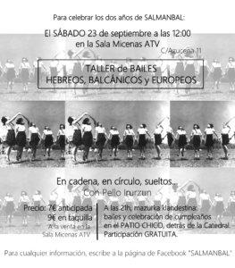 Salmanbal Taller de Bailes Hebreos Balcánicos y Europeos Sala Micenas Adarsa Salamanca Septiembre 2017