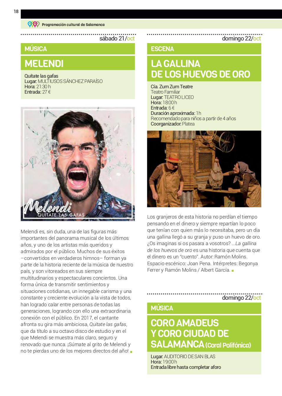 Compañía Zum Zum Teatre La gallina de los huevos de oro Teatro Liceo Salamanca Octubre 2017