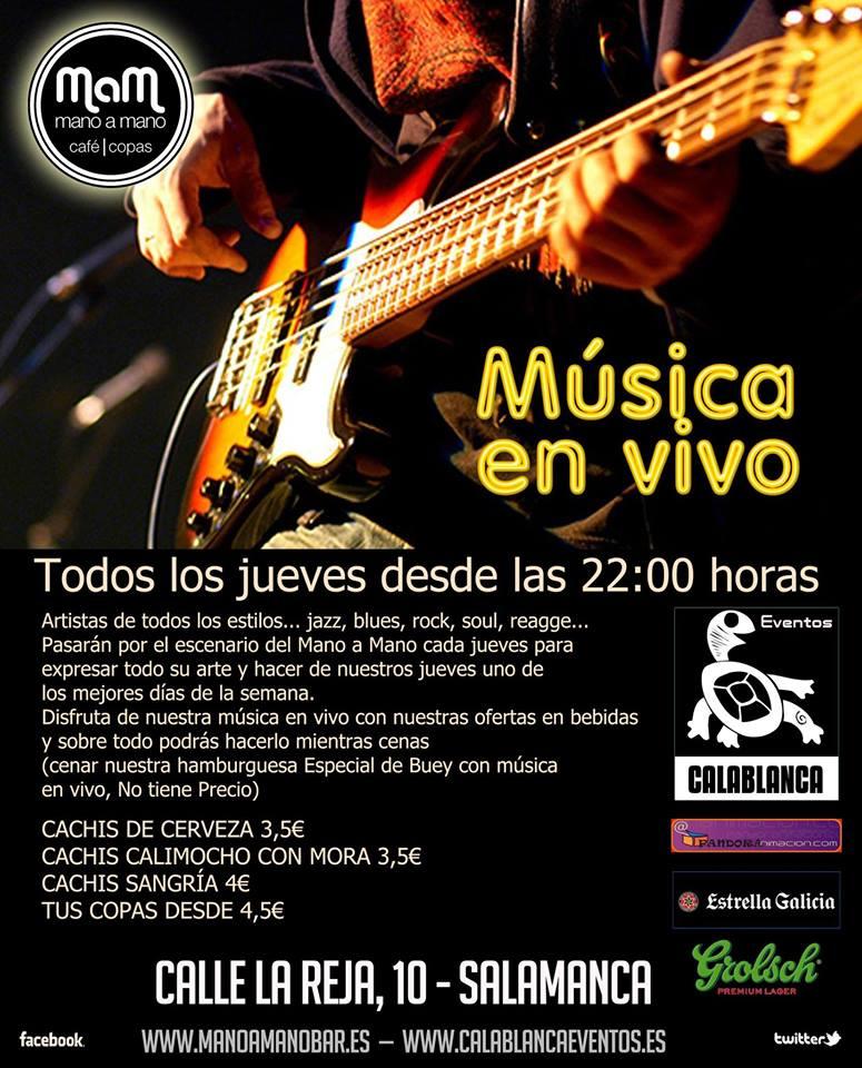 Música en Vivo Bar Mano a Mano Salamanca 2017-2018