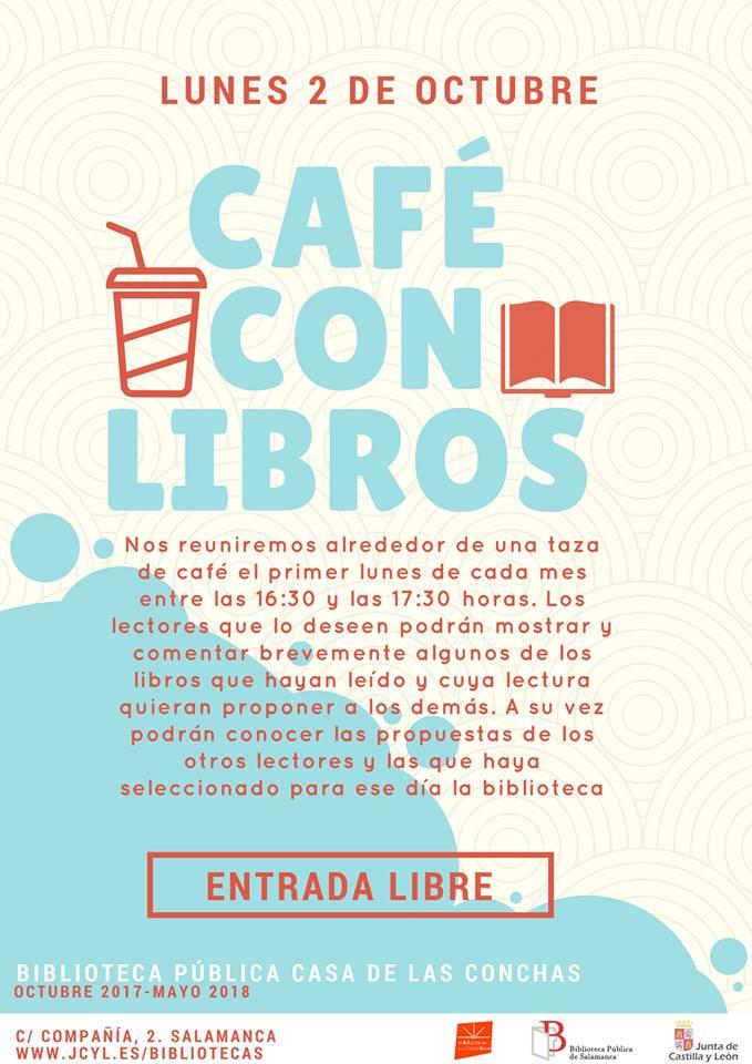 Café con Libros Casa de las Cochas Salamanca Octubre 2017