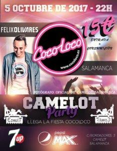 Fiesta Cocoloco Camelot Salamanca Octubre 2017