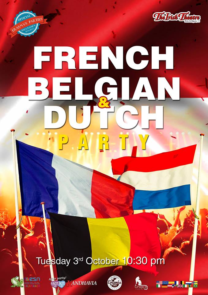 French, Belgian & Dutch Party The Irish Theatre Salamanca Octubre 2017