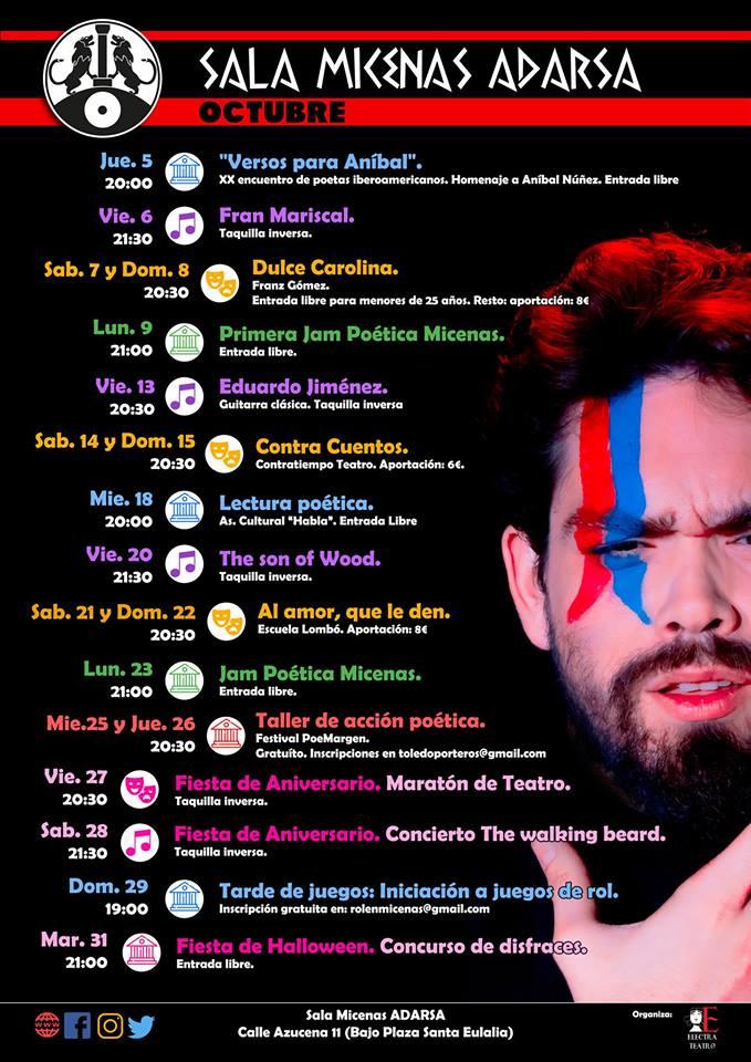 Asociación Cultural Habla Sala Micenas Adarsa Salamanca Octubre 2017