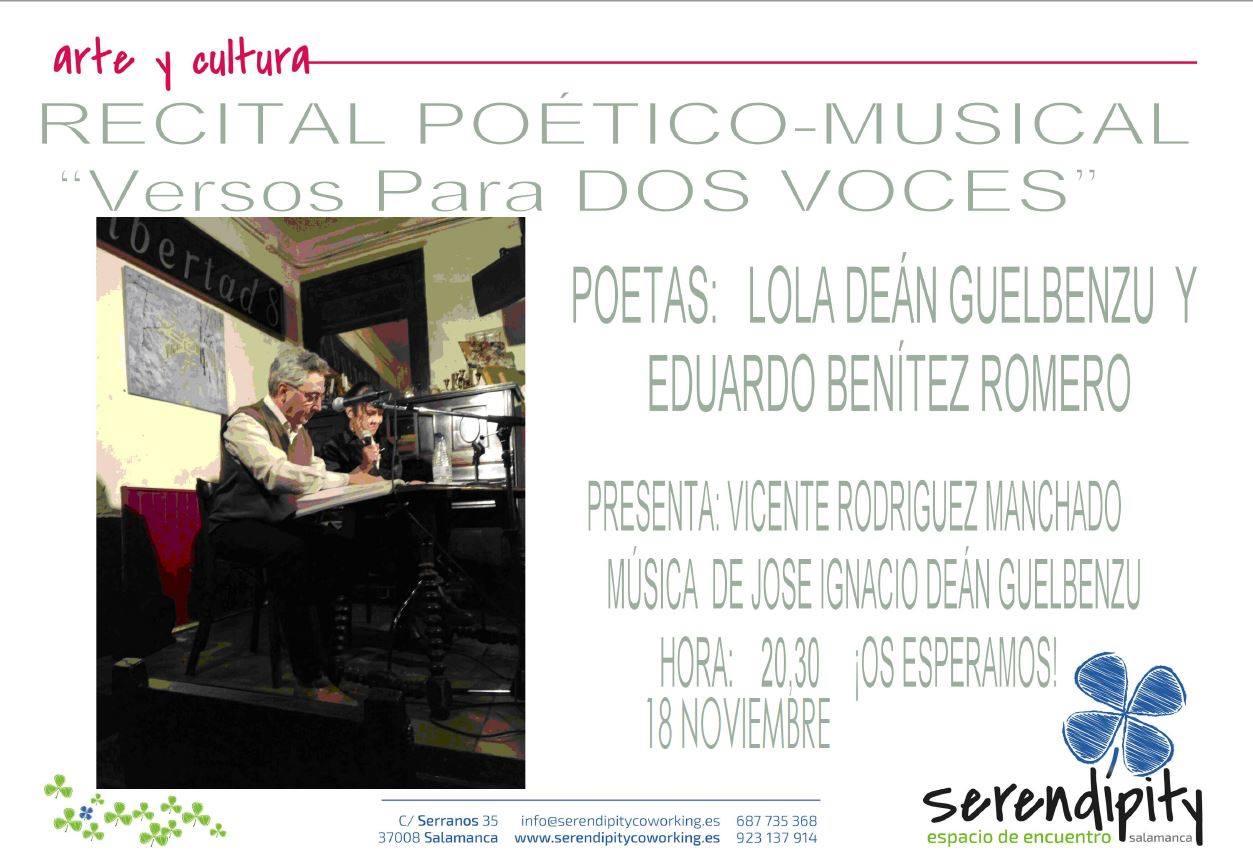 Versos para dos voces Serendípity Salamanca Noviembre 2017