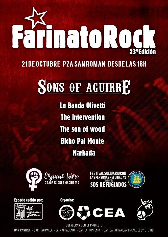 XXIII Festival Farinato Rock CEA CES Plaza de San Román Salamanca Octubre 2017