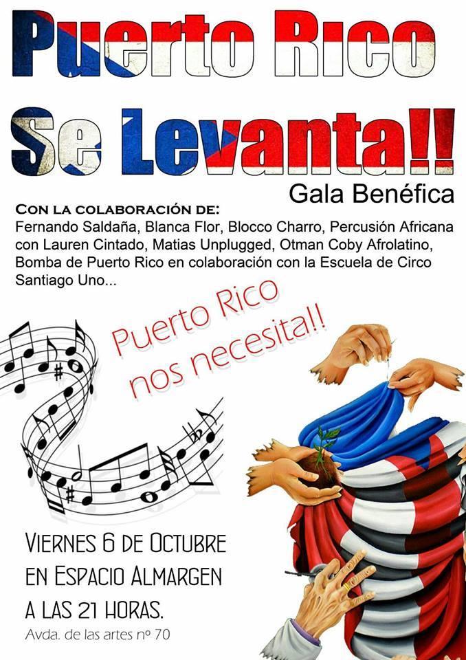 Gala Benéfica Puerto Rico se Levanta!! __Almargen Salamanca Octubre 2017