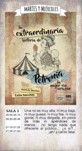 La extraordinaria historia de Petronia, la mujer sin corazón La Malhablada Salamanca Octubre 2017