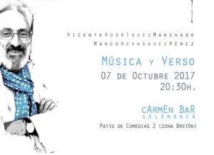 Vicente Rodríguez Manchado y Marco Hernández Pérez Música y verso Carmen Bar Salamanca Octubre 2017