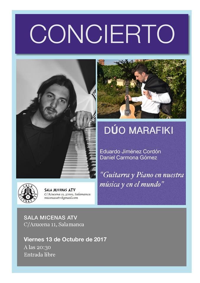 Dúo Marafaki Sala Micenas Adarsa Salamanca Octubre 2017