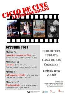 Ciclo de Cine Latinoamericano Casa de las Conchas Salamanca Octubre 2017