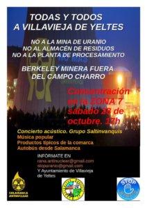Concentración Salamanca Antinuclear Villavieja de Yeltes Octubre 2017