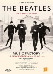 The Flaming Shakers Music Factory Salamanca Noviembre 2017