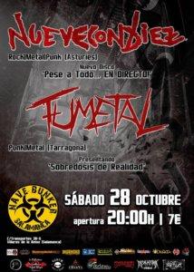 NueveConDiez + FuMetal Nave Bunker Villares Octubre 2017