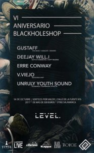 VI Aniversario Blackholeshop Level Salamanca Octubre 2017