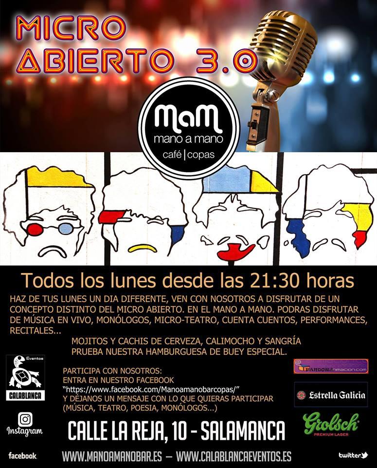 Micro Abierto 3.0 Bar Mano a Mano Salamanca 2017-2018