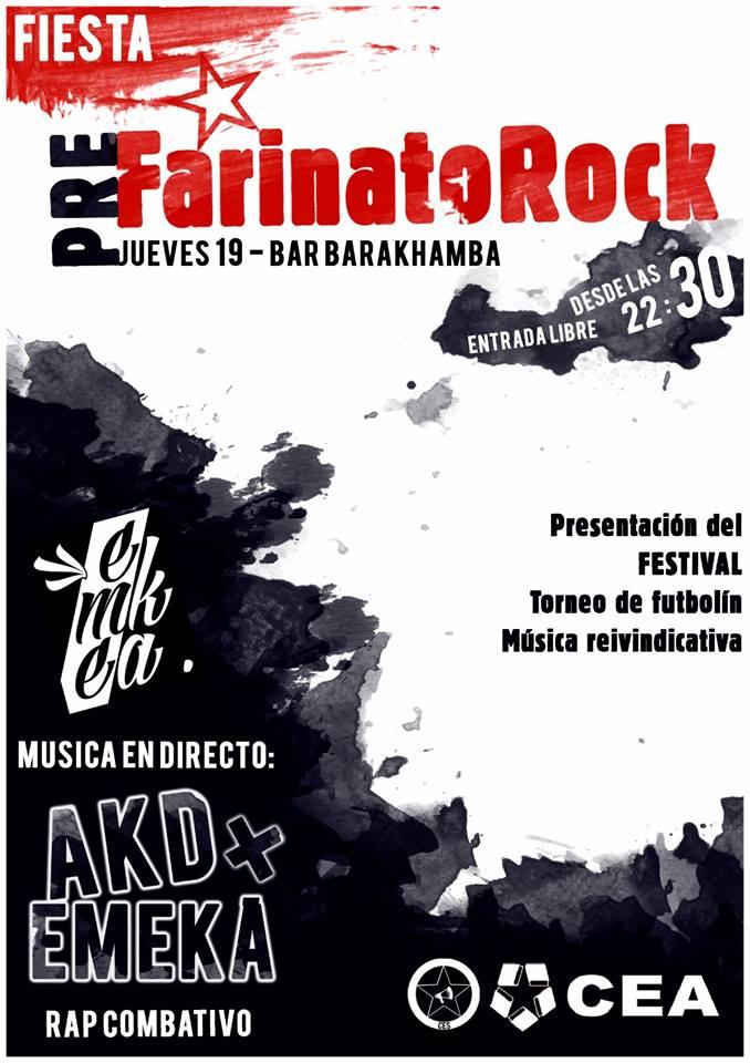 Fiesta Pre Farinato Rock Barakhamba Salamanca Octubre 2017
