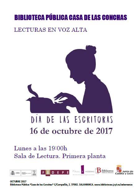 II Día de las Escritoras Mujeres, saber y poder Casa de las Conchas Salamanca Octubre 2017