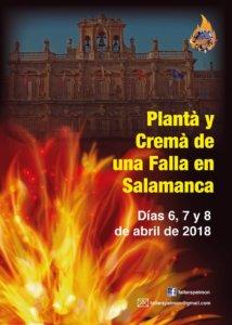 Salamanca es la ciudad elegida por la Asociación Cultural Fallers Pel Món para dar a conocer la fiesta de las fallas en 2018