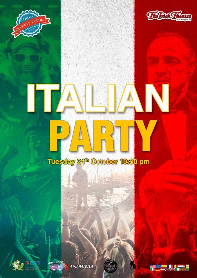 Fiesta Italiana The Irish Theatre Salamanca Octubre 2017
