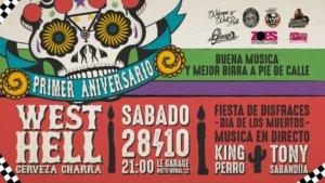 Fiesta Primer Aniversario West Hell Le Garage MCC Salamanca Octubre 2017